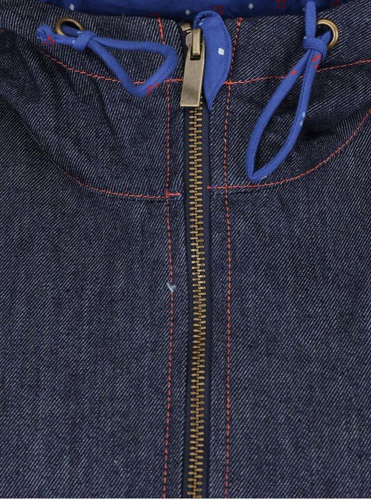 Tmavě modrá džínová bunda s kapucí Tranquillo Jorun