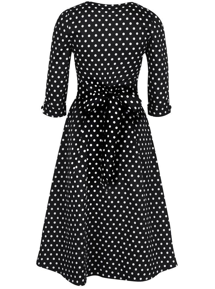 Černo-bílé puntíkované šaty Dolly & Dotty Katherine