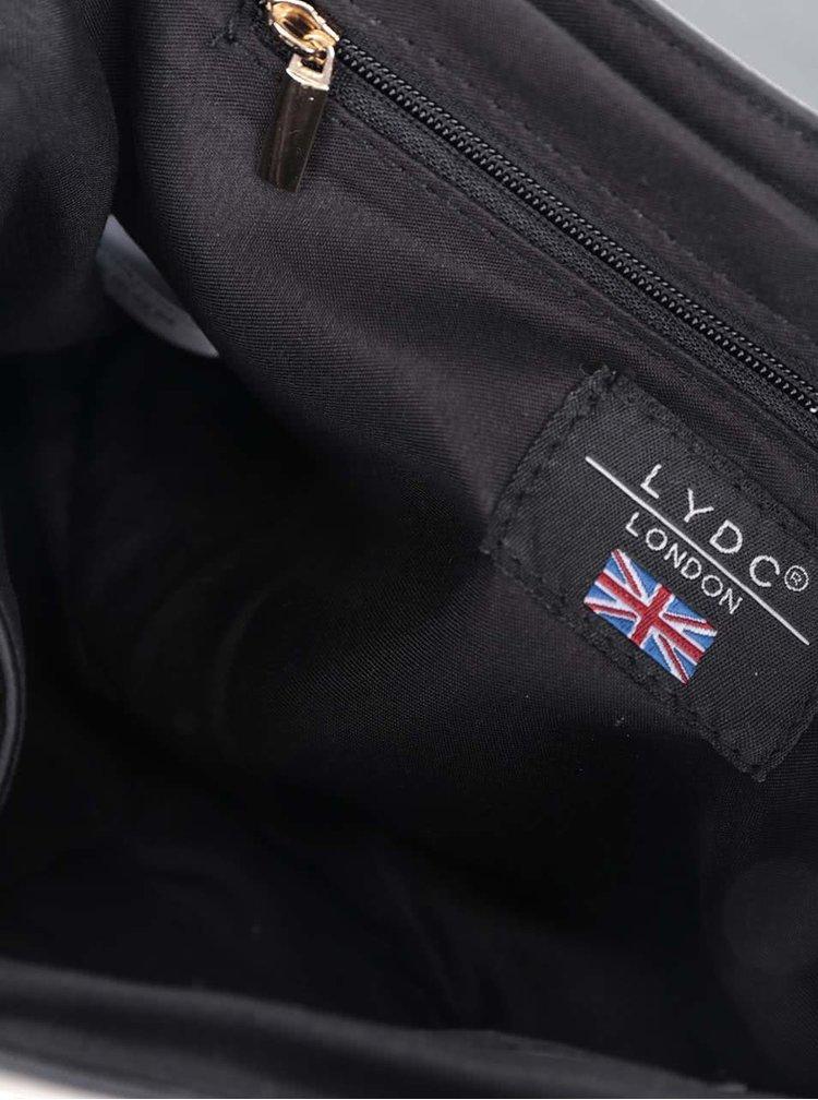 Béžovo-černá crossbody kabelka/psaníčko LYDC