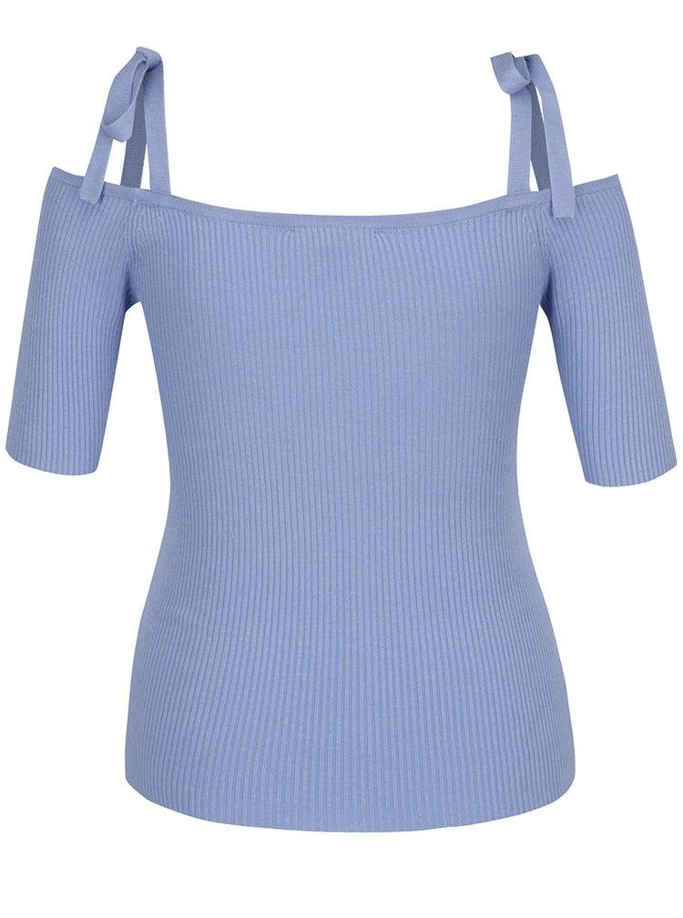 Modré žebrované tričko Selfridge