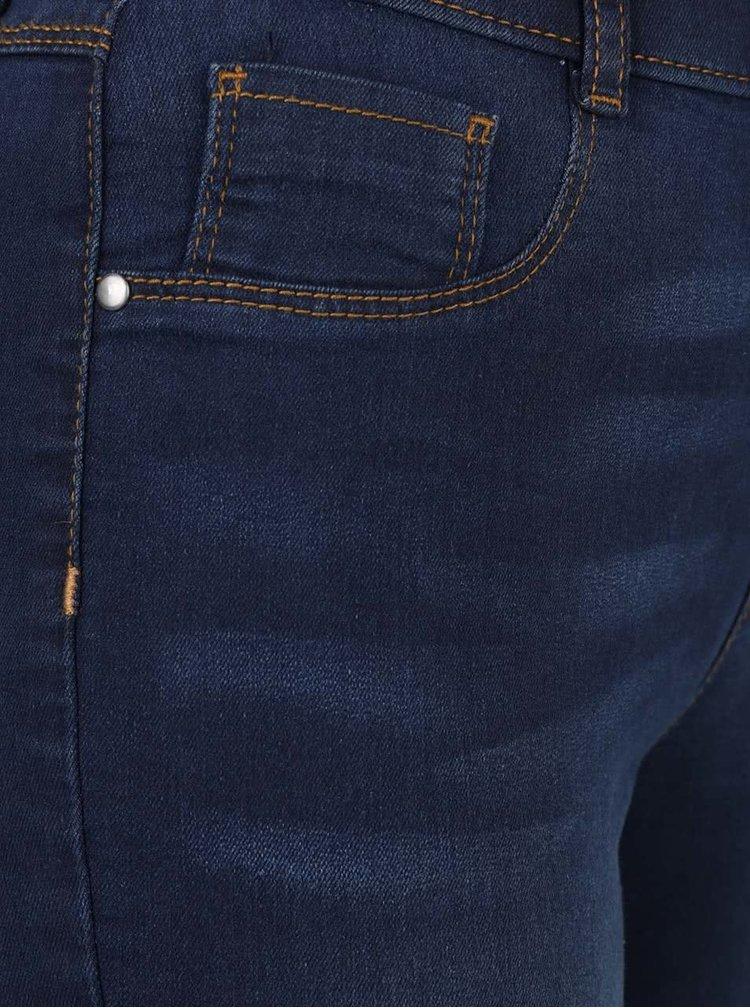 Tmavě modré ultra soft jeggings s prošívanými lemy Dorothy Perkins