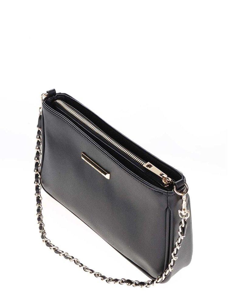 Černá  kabelka/psaníčko s detailem ve zlaté barvě Dorothy Perkins
