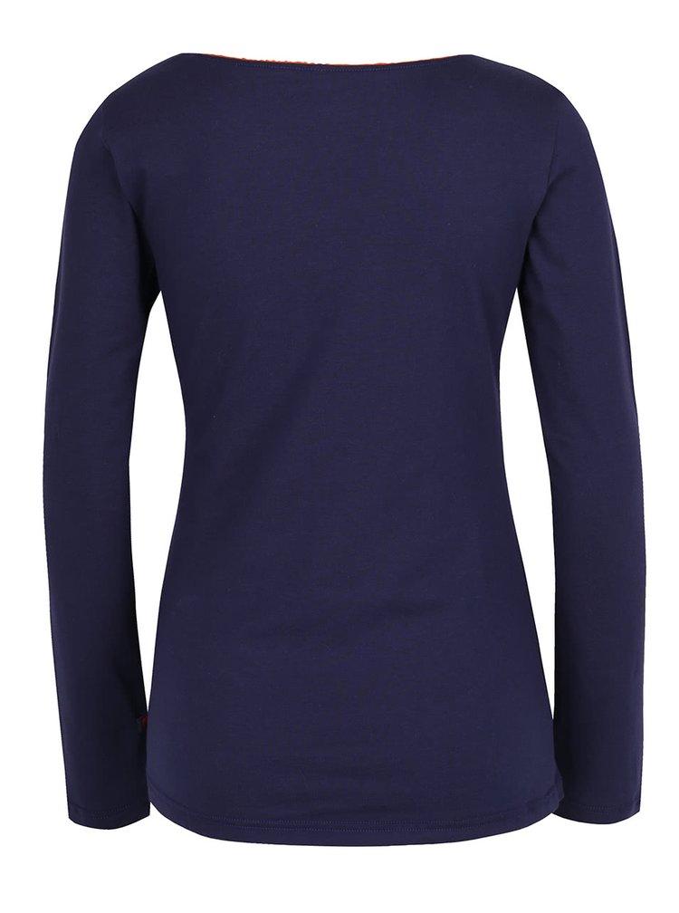 Tmavě modré tričko s dlouhým rukávem Tranquillo Mara