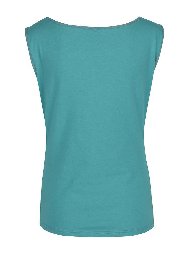 Tyrkysové tričko bez rukávů Tranquillo Lina
