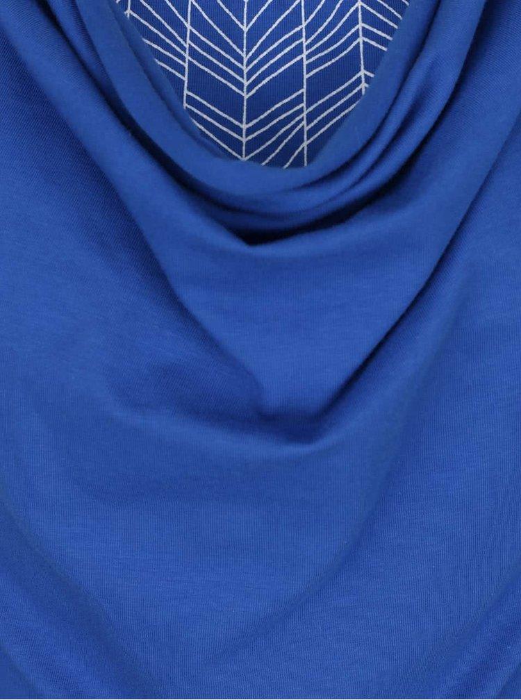 Top albastru închis Tranquillo Lina cu decolteu drapat și aspect 2 în 1