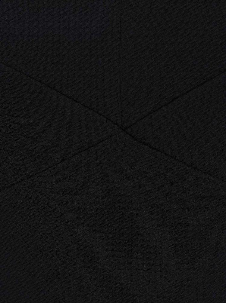 Černé pouzdrové šaty s odhalenými rameny Miss Selfridge