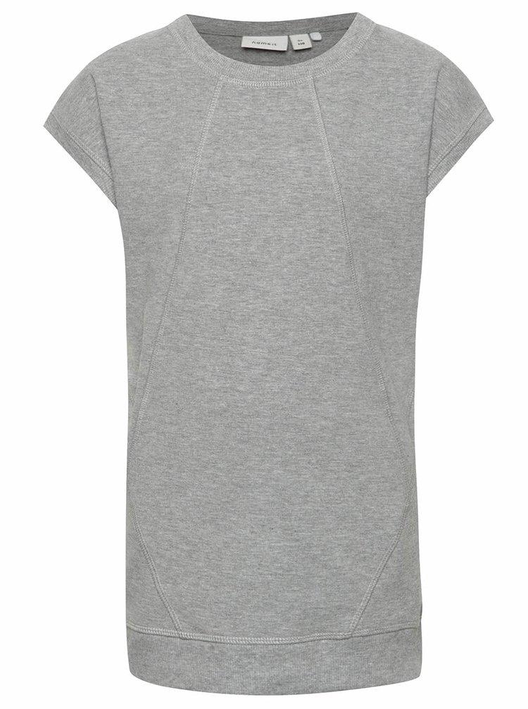 Sivé dievčenské tričko name it Henriette