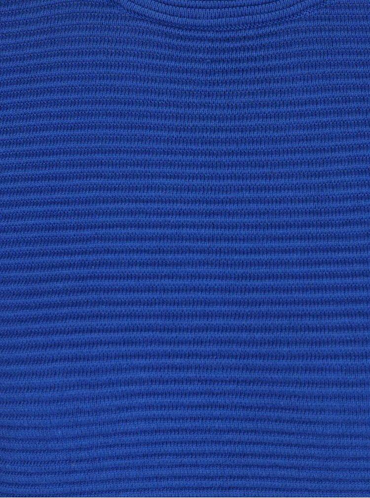 Modrý žebrovaný svetr Dorothy Perkins