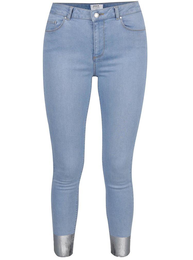 Světle modré super skinny džíny Miss Selfridge
