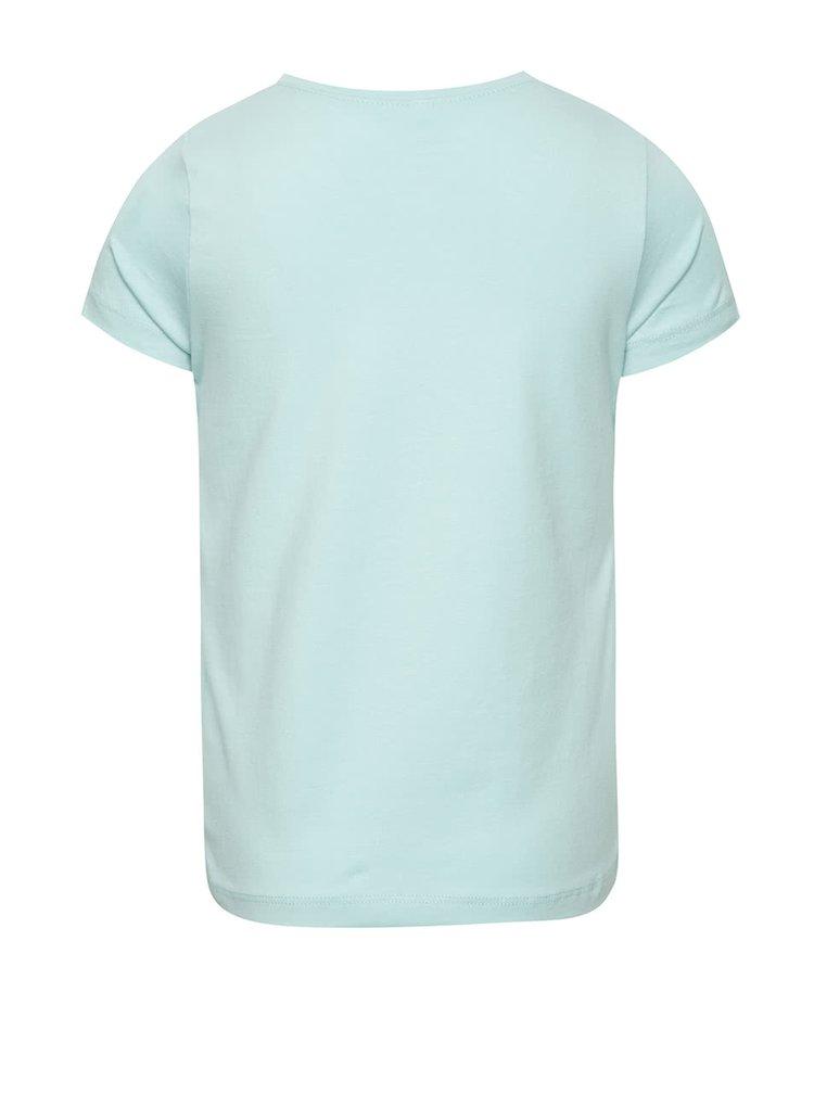 Světle modré holčičí tričko s potiskem name it  Vixida
