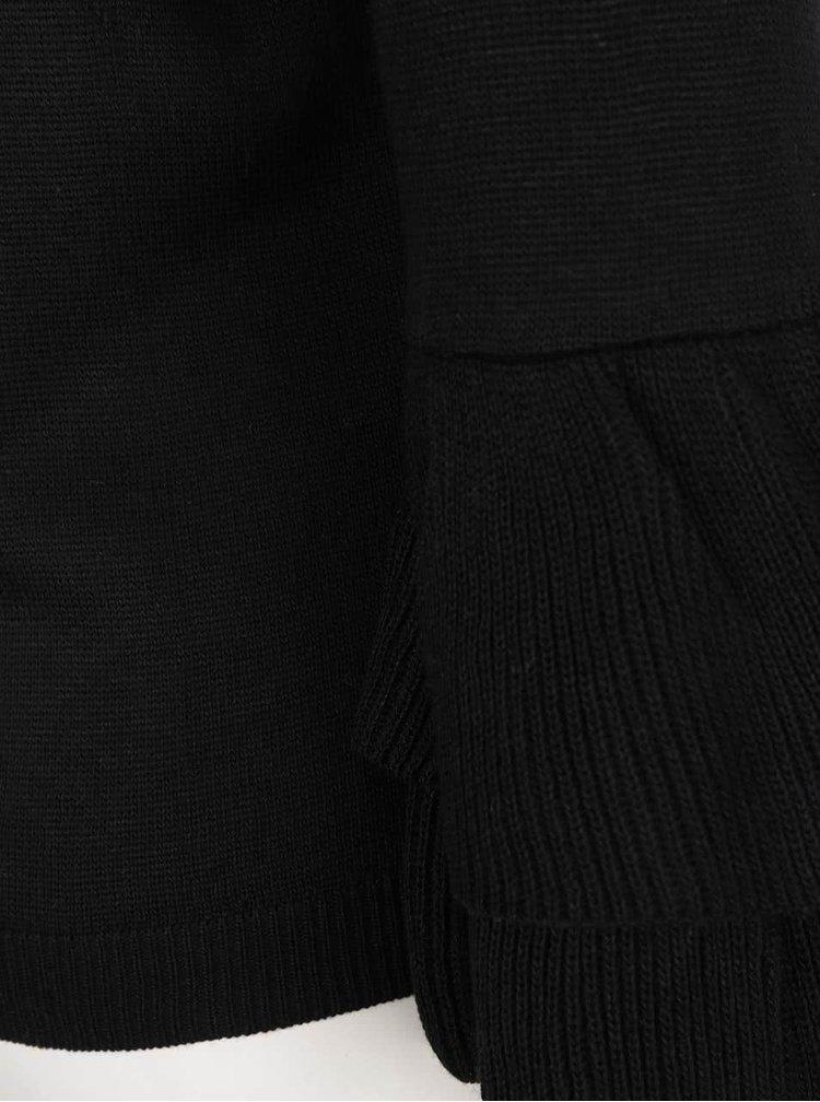 Pulover negru Miss Selfridge cu volane la maneci