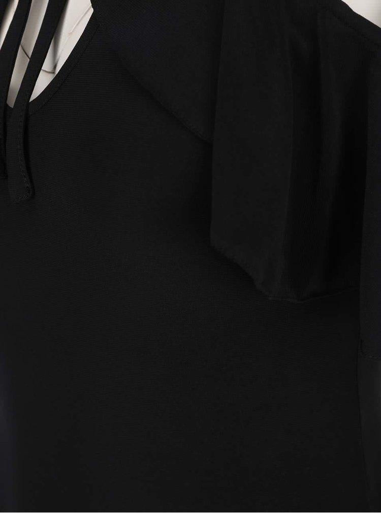 Body negru Miss Selfridge cu decupaj pe umeri