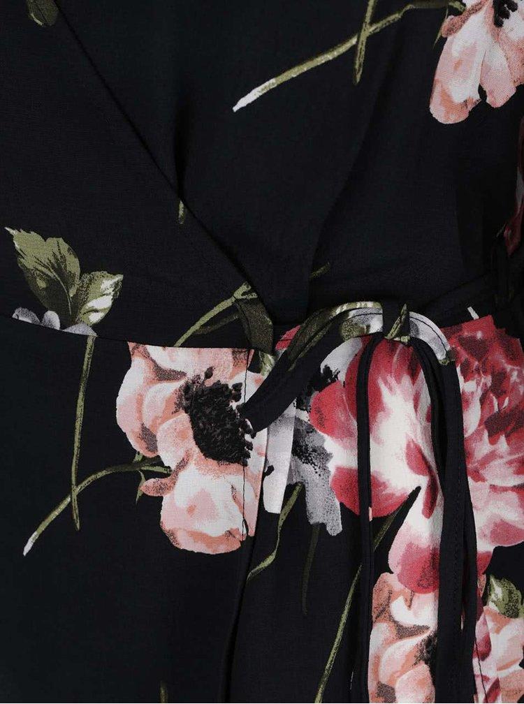 Bluză neagră Dorothy Perkins cu cordon