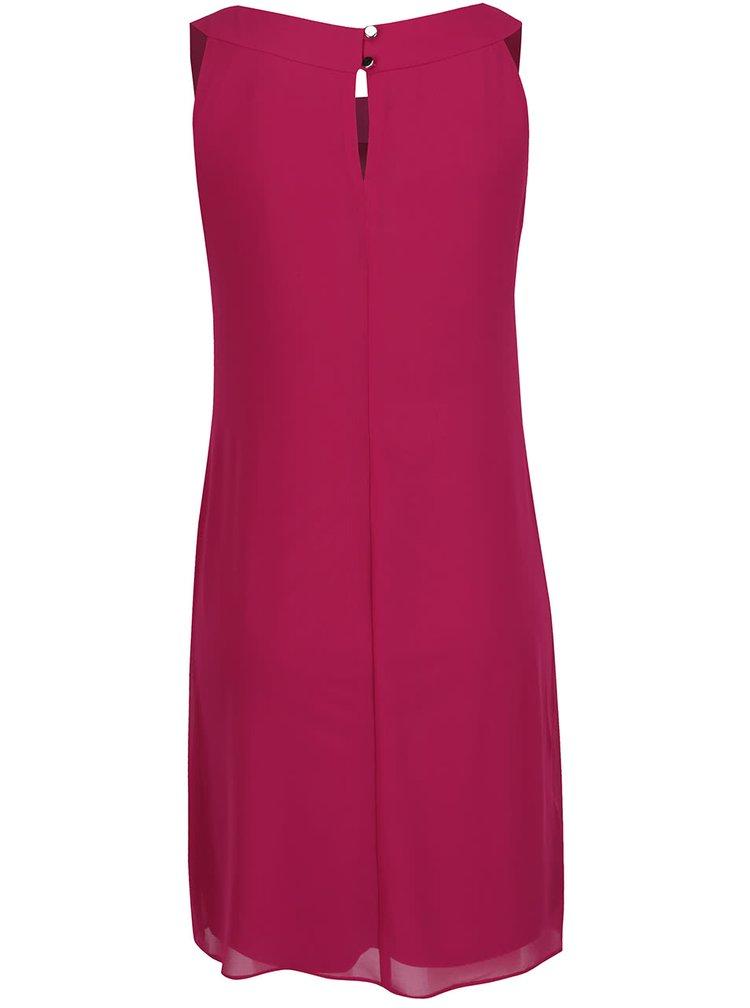 Tmavě růžové šaty s detaily stříbrné barvě Billie & Blossom