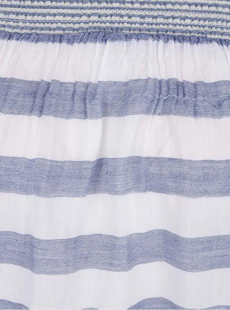 Top alb cu albastru Miss Selfridge cu decolteu pe umeri