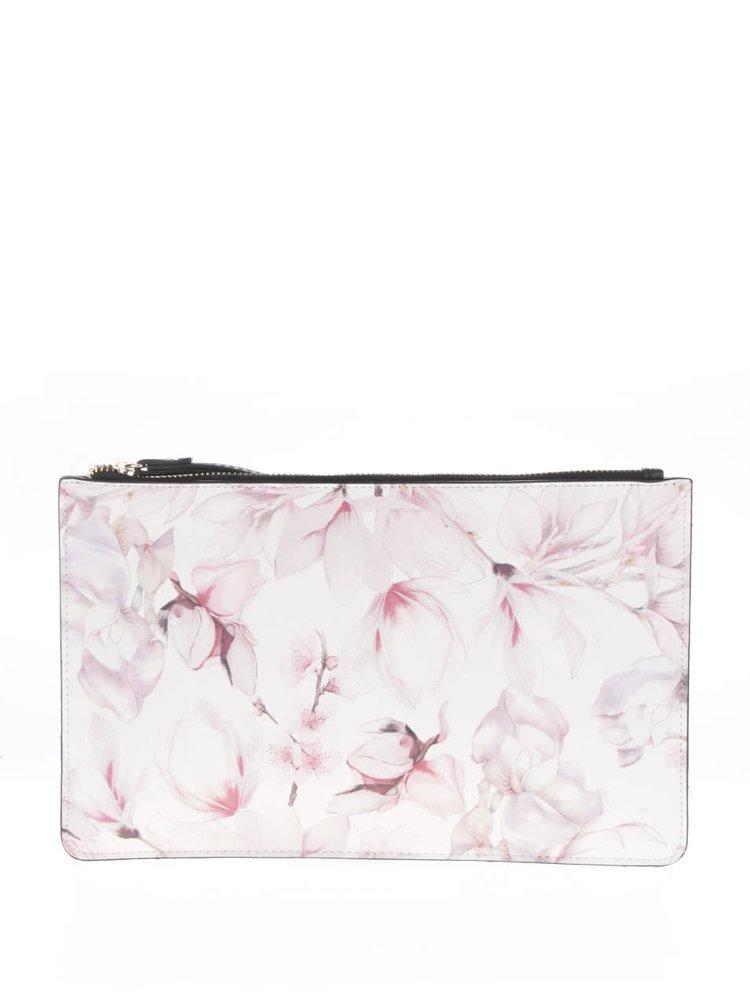 Krémovo-růžové květované psaníčko Miss Selfridge