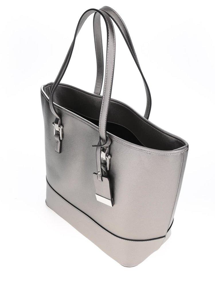 Geantă shopper Miss Selfridge argintie