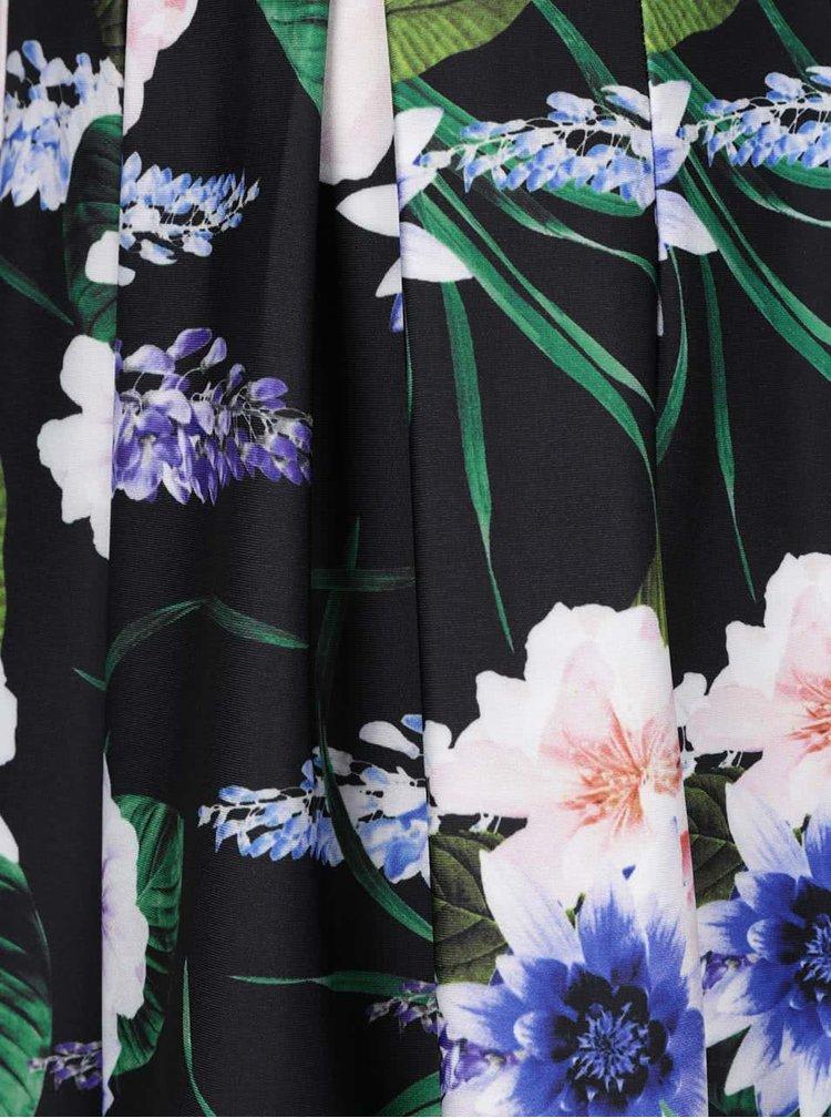 Fustă neagră Dorothy Perkins cu model floral
