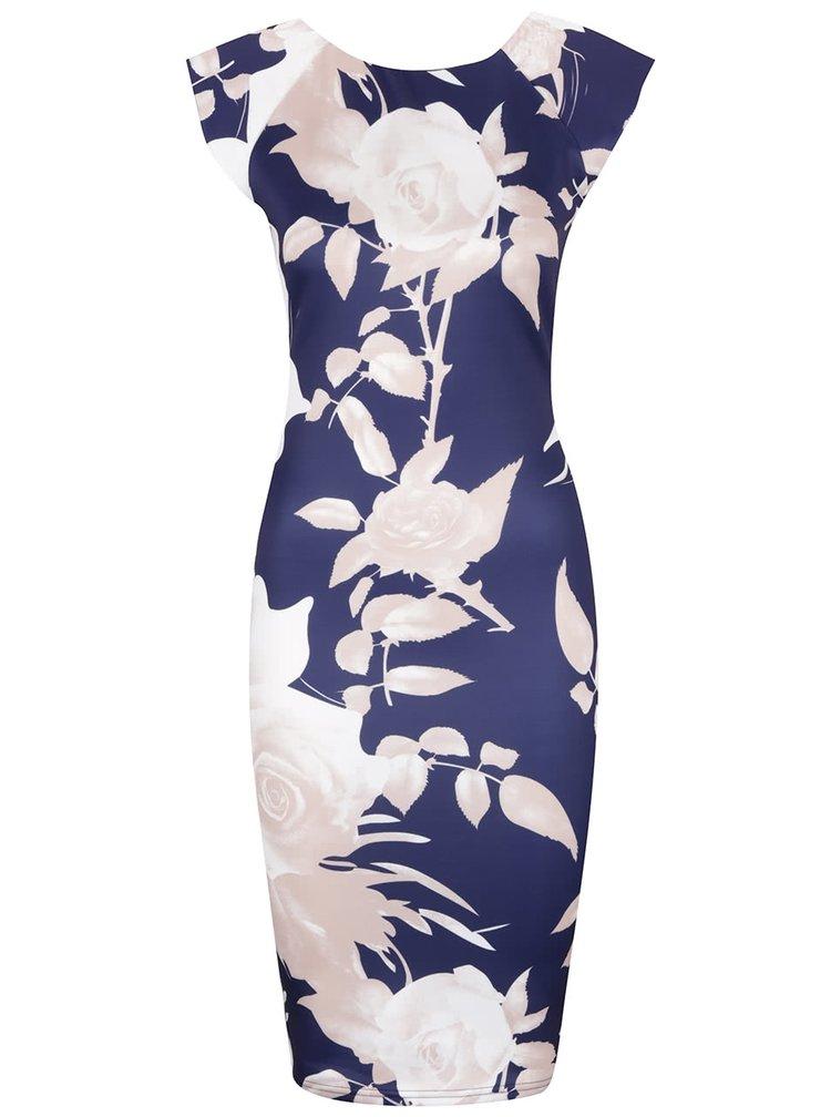 Rochie bodycon albastră cu flori - AX Paris