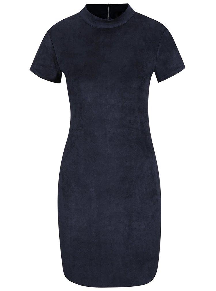 Rochie albastru inchis AX Paris cu catifea