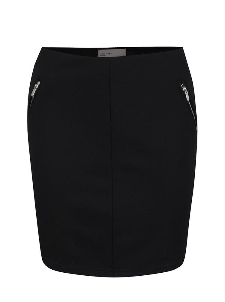 Černá sukně se zipy VERO MODA Strong