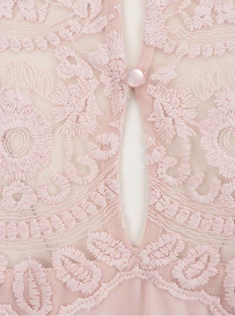 Rochie roz deschis VERO MODA Vanessa cu detaliu din dantelă