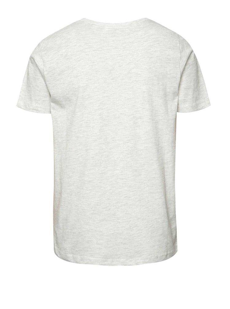 Šedé žíhané klučičí triko s potiskem LIMITED by name it Victorovu