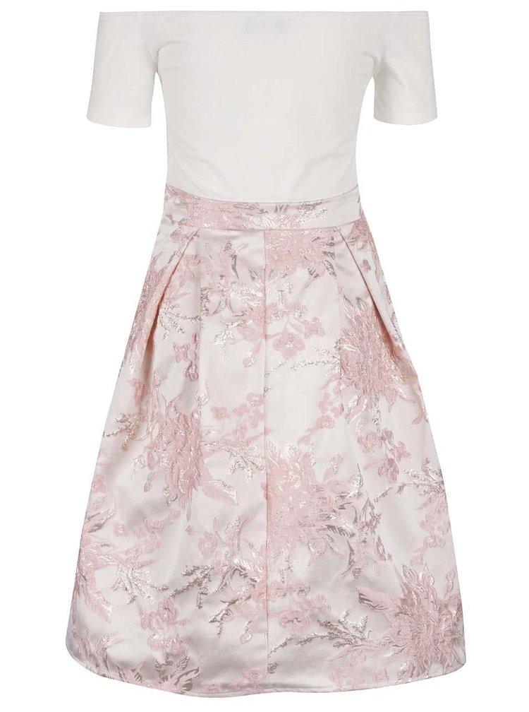 Krémovo-růžové šaty AX Paris