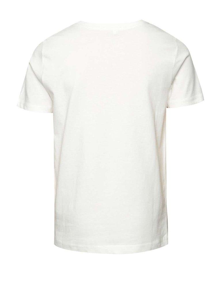 Krémové klučičí triko s potiskem LIMITED by name it Victorovu