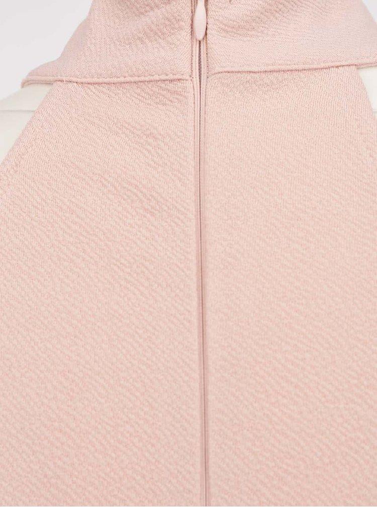 Rochie roz pal AX Paris cu guler înalt și tiv asimetric