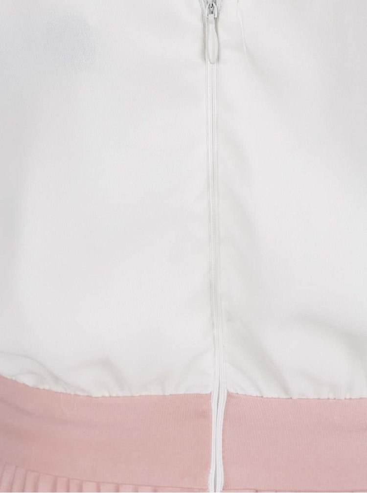 Krémovo-růžové šaty s plisovanou sukní AX Paris
