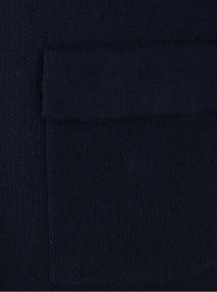 Cardigan lung albastru VERO MODA Silica cu buzunare