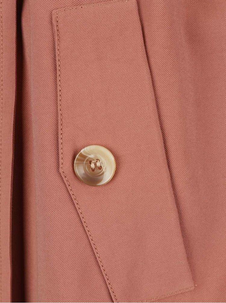 Trenci roz somon VERO MODA Pippa