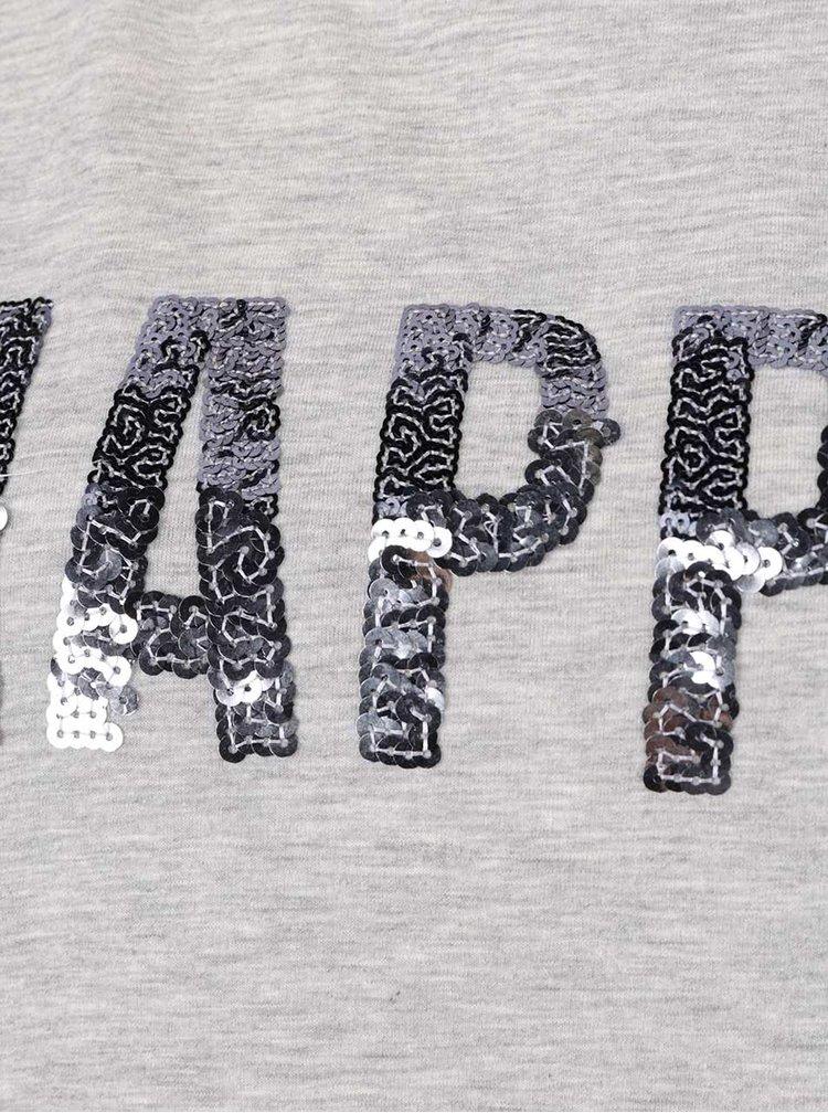 Tricou gri VERO MODA Wivi cu aplicații
