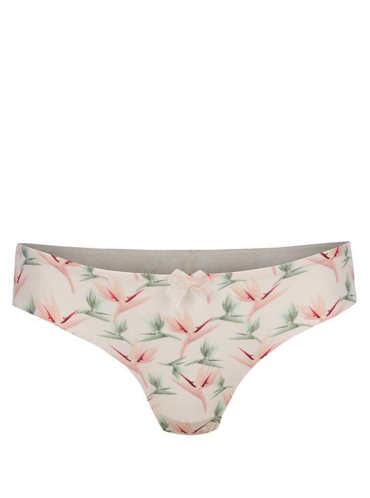 Chiloti hipster roz pal ICÔNE Scarlette cu imprimeu floral