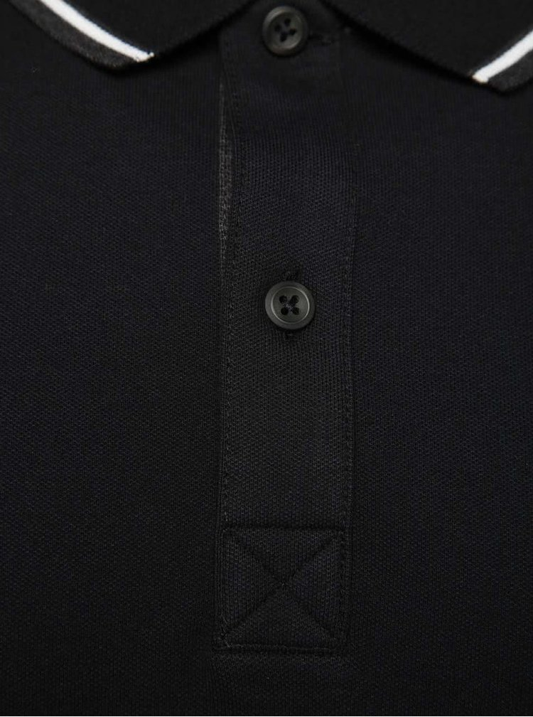 Černé polo triko Selected Homme Season