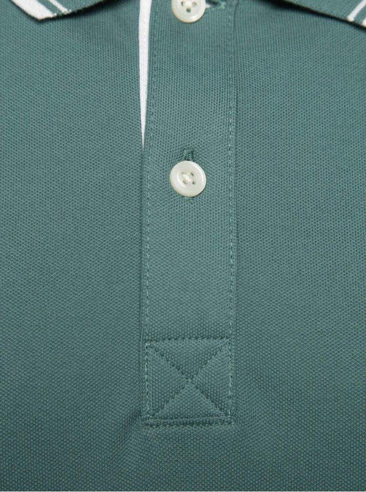 Zelené polo triko Selected Homme Season