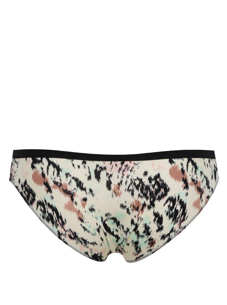Černo-krémové kalhotky se vzorem ICÔNE Carlie