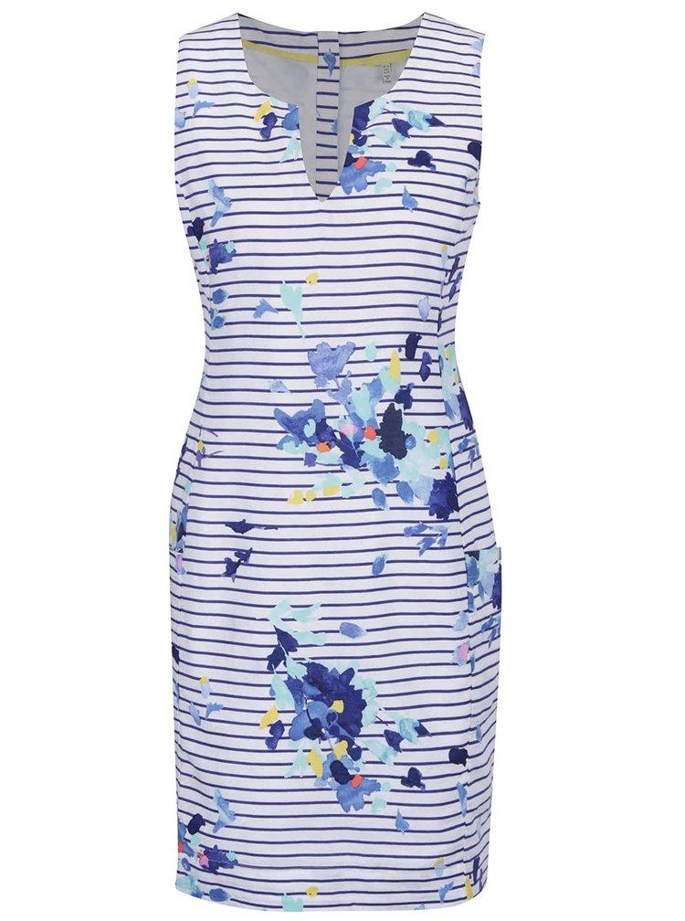 Modro-bílé lněné pruhované šaty Tom Joule Elayna