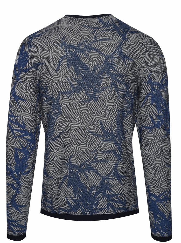 Bluza crem & albastru ONLY & SONS Pavel din bumbac cu model