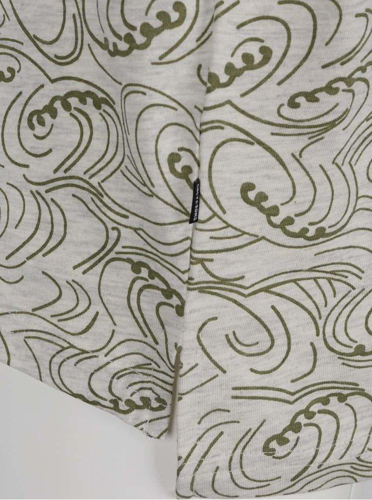 Šedo-zelené vzorované triko ONLY & SONS Thor