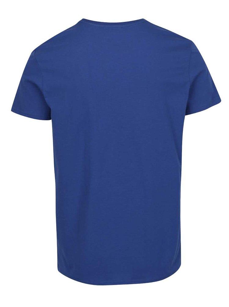 Modré pánské triko s potiskem GANT Tonal