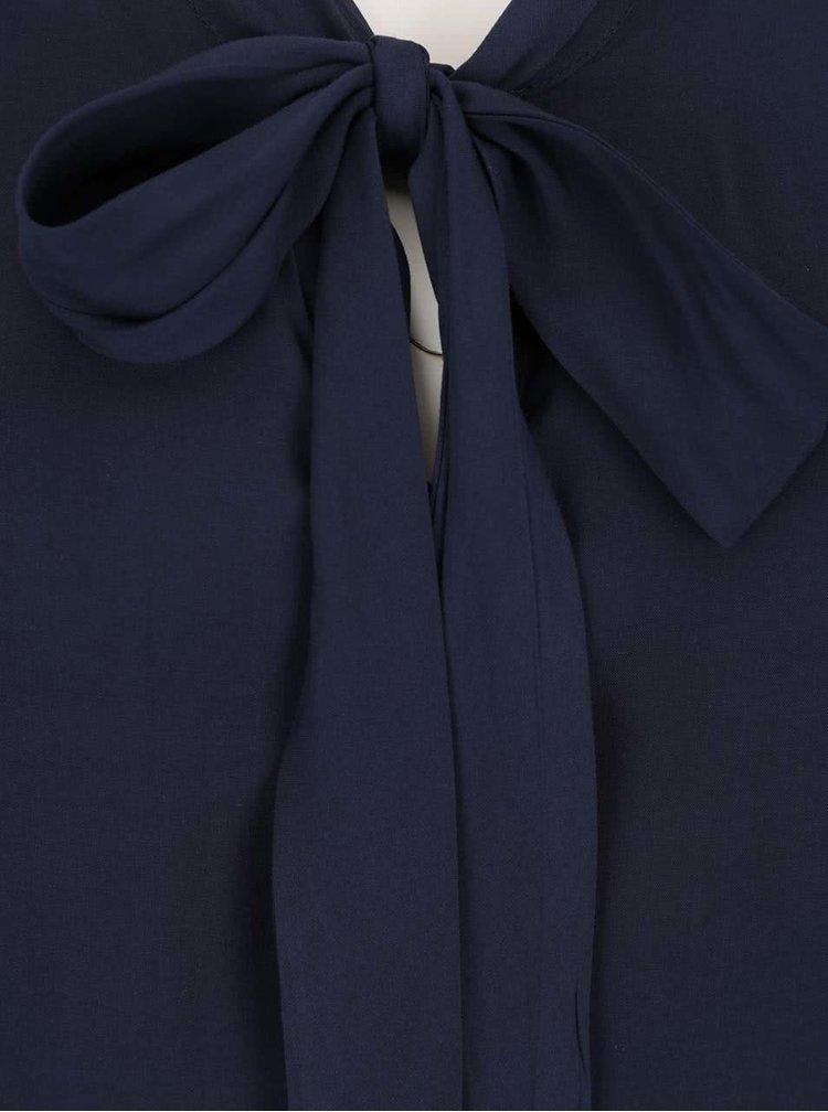 Tmavě modrá halenka s vázankou Broadway Adelia