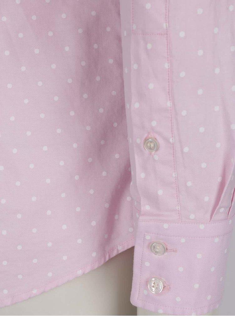 Růžová dámská puntíkovaná košile GANT Oxford