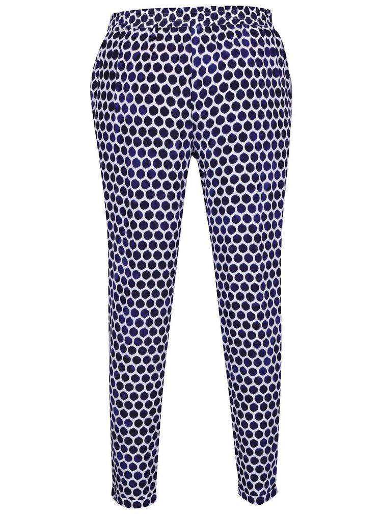 Pantaloni largi alb & albastru Tom Joule Anice
