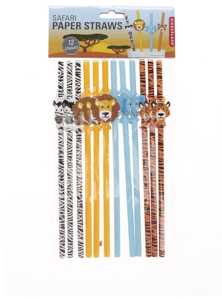 Ekologická brčka v bílé, žluté, modré a oranžové barvě Kikkerland