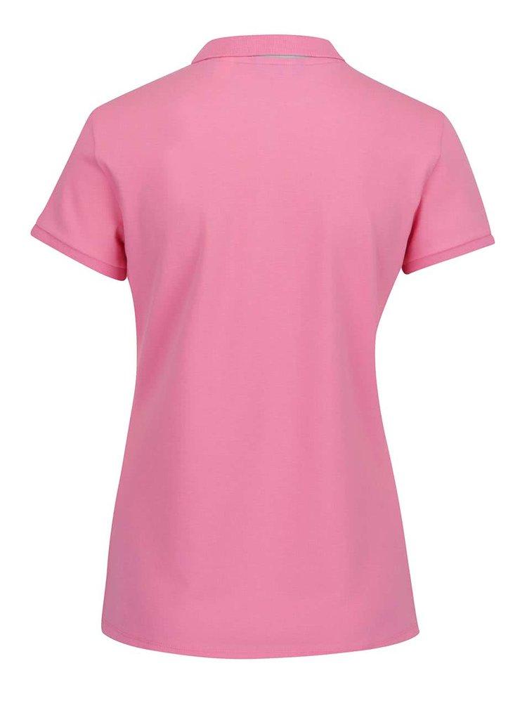 Růžové dámské polo tričko GANT Pique