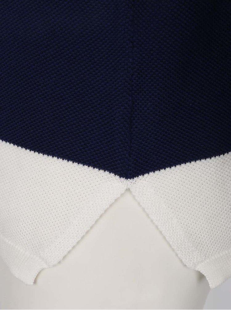 Krémovo-modrý dámský pruhovaný svetr GANT Pique