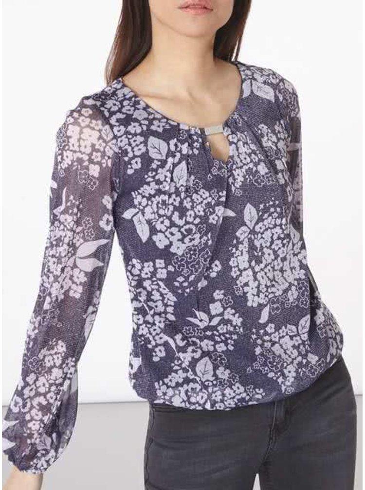 Bluza mov Billie & Blossen cu model