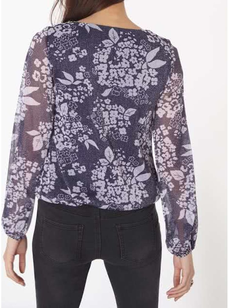 Bluză mov Billie & Blossen cu model